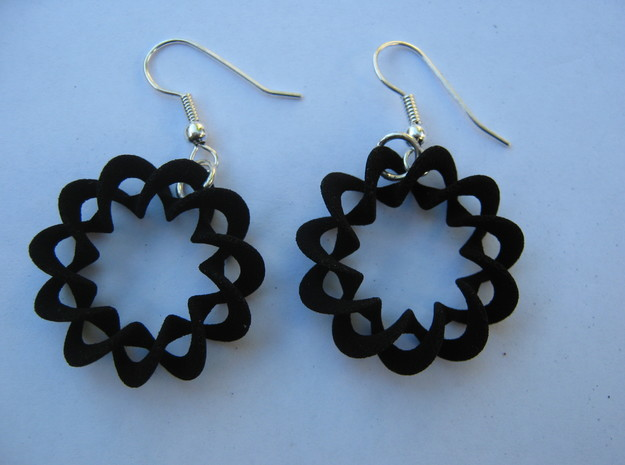 Coil 11x2 Earrings 3d printed