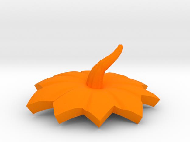 halloween pumpkin top part in Orange Strong & Flexible Polished