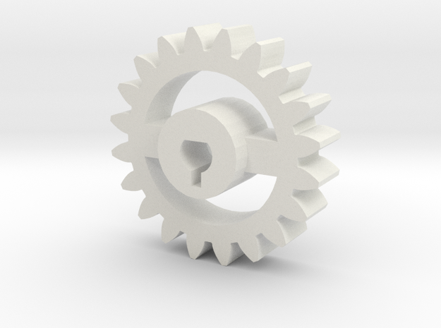 Foxic Antweight Gear in White Natural Versatile Plastic