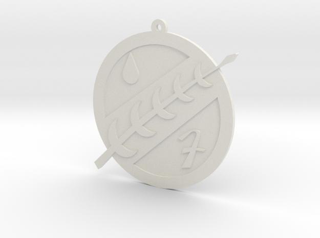 Boba Fett Mandalorian Ornament in White Natural Versatile Plastic