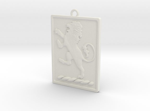 Pendant Lion in White Strong & Flexible