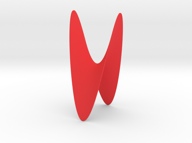 Hyperbolic Paraboloid: Tiny in Red Strong & Flexible Polished