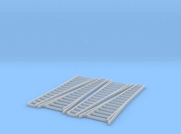 HO Scale, Four 15' Ladders 3d printed