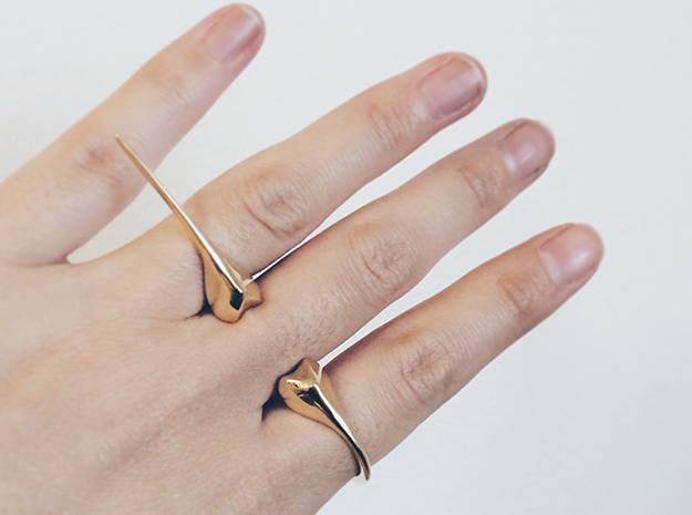 Beetle Horn Spike Ring