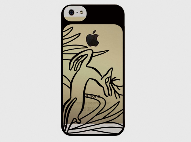 iPhone 5 case - Jumping deer 3d printed