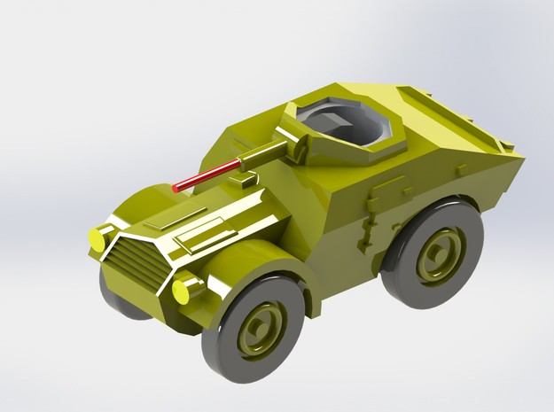Italian Autoblindo TL 37 Scout Car 1/285 6mm 3d printed Red Gun-Barrel not included