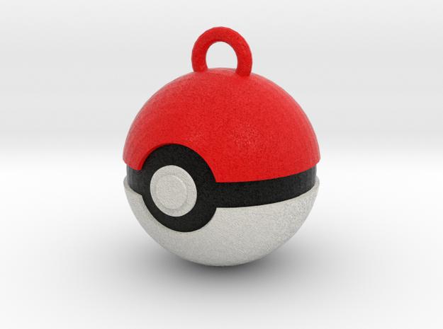 Pokeball Pendant in Full Color Sandstone