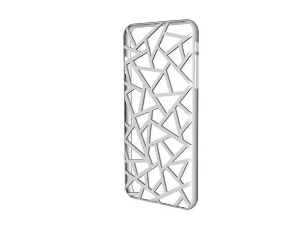 iPhone 6 plus / 6S plus Case_Triangles in White Strong & Flexible Polished