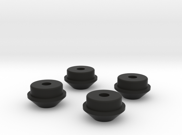 spring cups for scx10 shocks in Black Natural Versatile Plastic