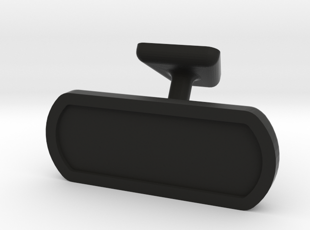1/10 scale rear view mirror in Black Natural Versatile Plastic