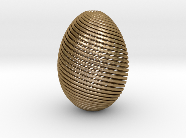 Designer Egg in Polished Gold Steel