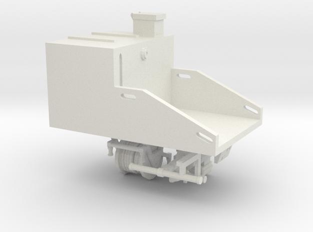 Custom Short tank Fire Skid Unit in White Natural Versatile Plastic