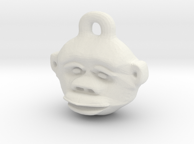 Great Ape Pendant in White Natural Versatile Plastic