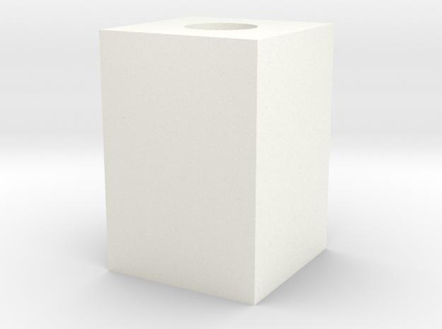 Cubo Réplica in White Processed Versatile Plastic