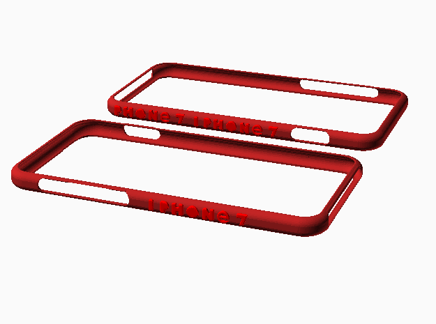 Iphone 7 Bumpr in Red Strong & Flexible Polished