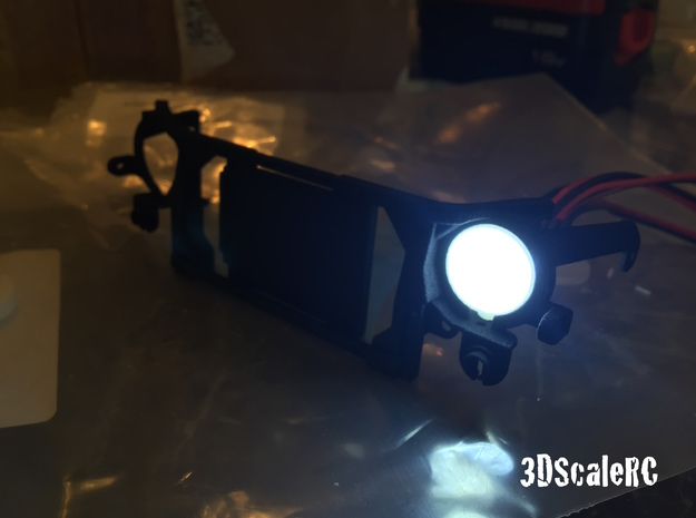 Axial Jeep JK Head Light (Knight Customs Grill) in White Processed Versatile Plastic