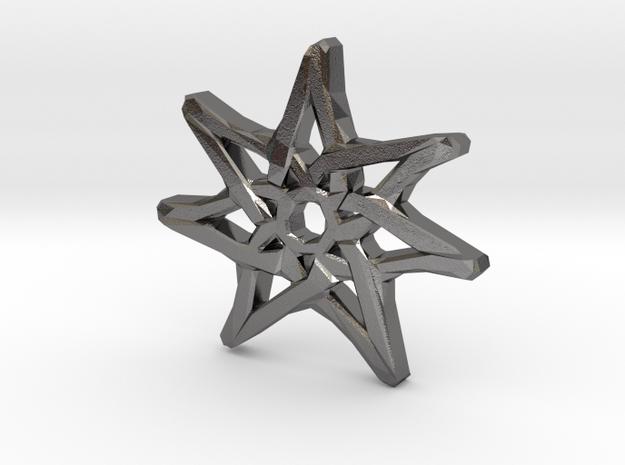 7-Pointed Knotwork Faery Star in Polished Nickel Steel