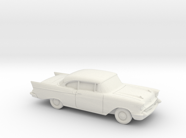 1/87 1957 Chevrolet One Fifty Coupe in White Natural Versatile Plastic