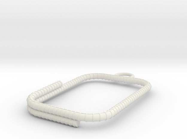 Rebar keychain in White Strong & Flexible