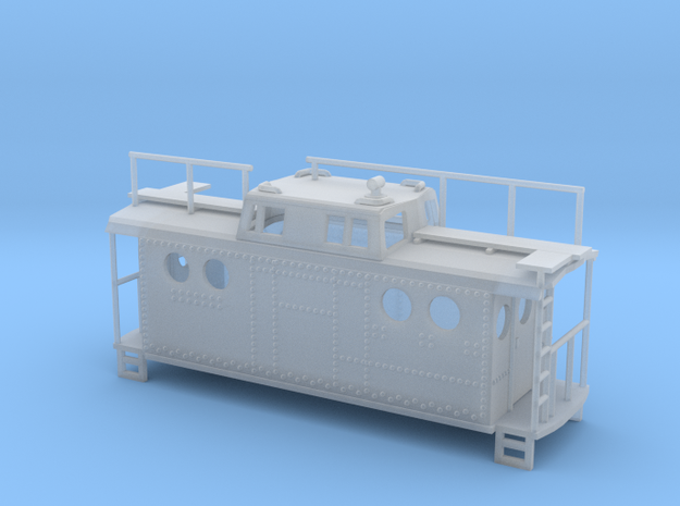 PRR Class N5c Caboose Z Scale in Smooth Fine Detail Plastic