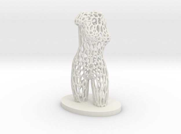 Dancer Torso 03 Voronoi Style in White Strong & Flexible
