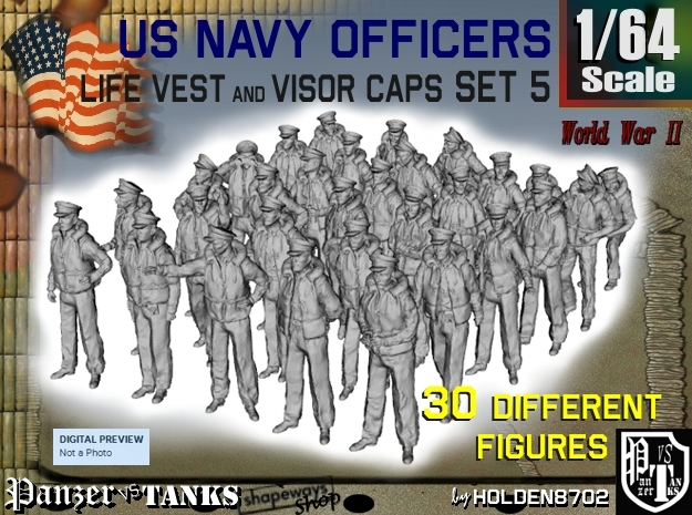 1-64 USN Officers KAPOK Set5 in Frosted Ultra Detail
