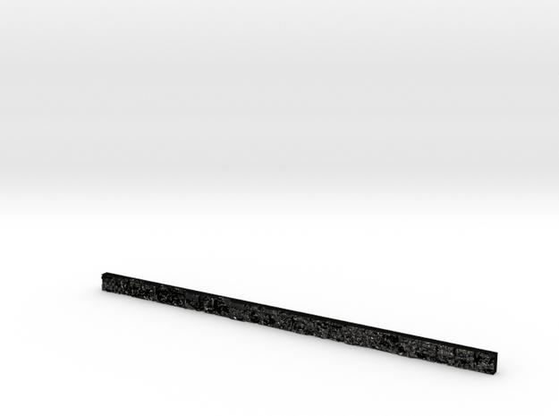 slightly off 2 feet ruler in Matte Black Steel