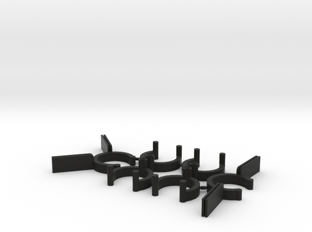 Collector Pins Magnet Adapter Break Apart 6 Piece  in Black Strong & Flexible