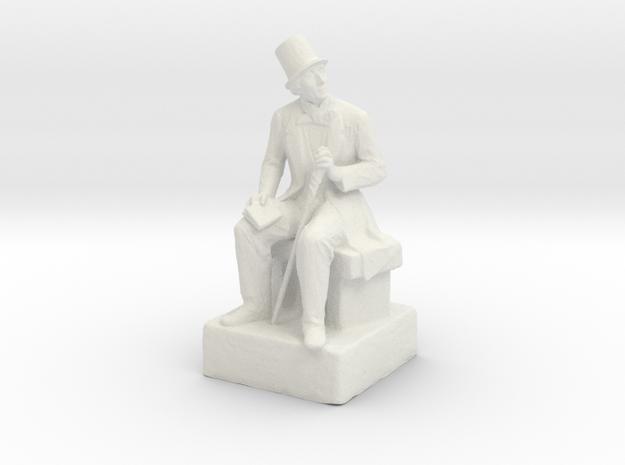 H.C. Andersen sculpture in White Strong & Flexible