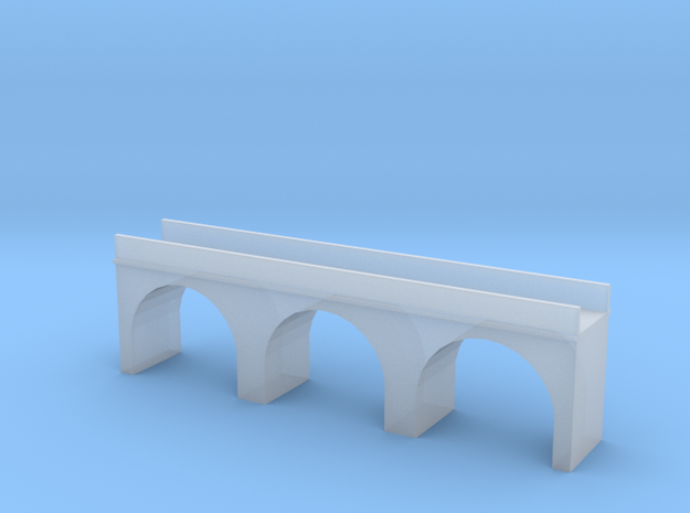 (1:450) Triple Arch Single Track 60mm Bridge in Frosted Ultra Detail