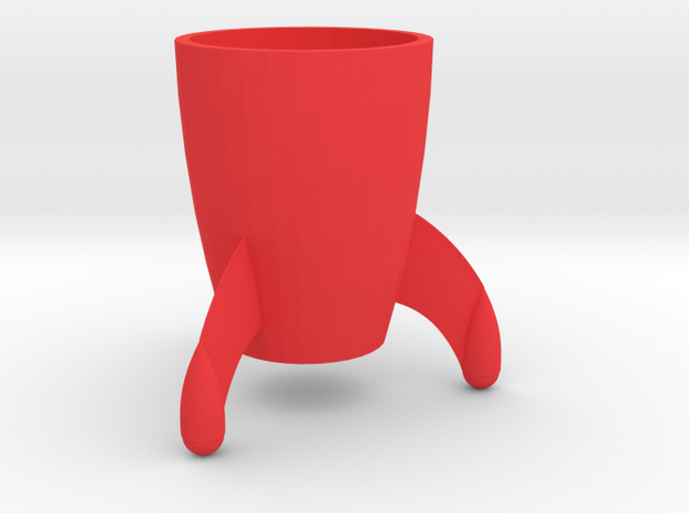 Coffee mug #8 XL - Tintin rocket in Red Processed Versatile Plastic
