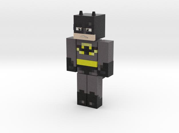 Minecraft Batman Figurine in Full Color Sandstone