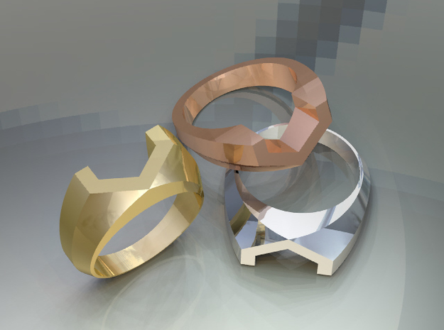 Vossen Ring Size8 3d printed