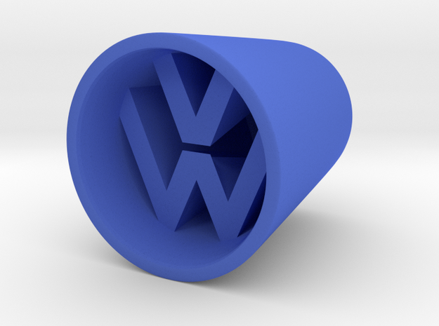 VW Shotglass in Blue Processed Versatile Plastic