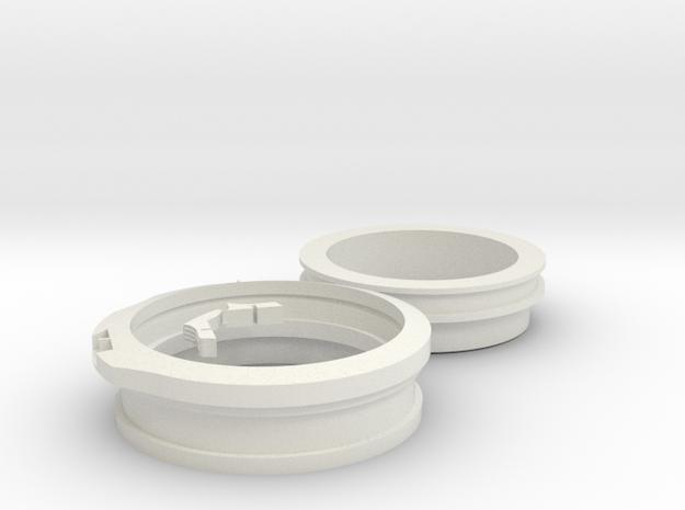 "Apollo A7L 3-1/2""-inch ID-Wrist Disconnects in White Natural Versatile Plastic"