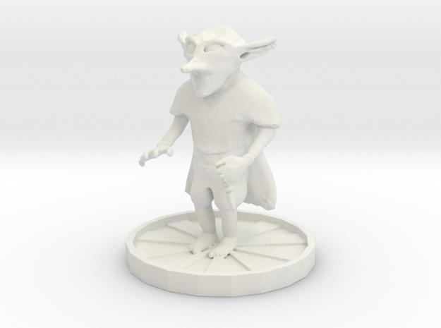 Goblin with dagger in White Strong & Flexible