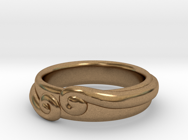 The Secret Ring in Natural Brass: 8.5 / 58