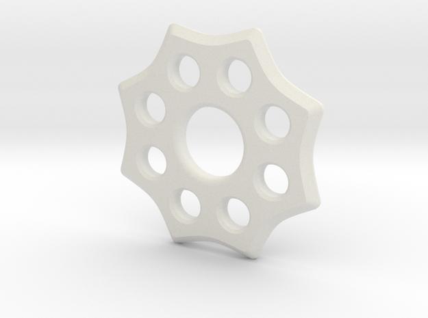 EDC Badge Spinner V1 in White Strong & Flexible