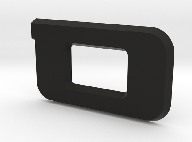 "SVO Decklid Emblem ""O"" - Large in Black Natural Versatile Plastic"