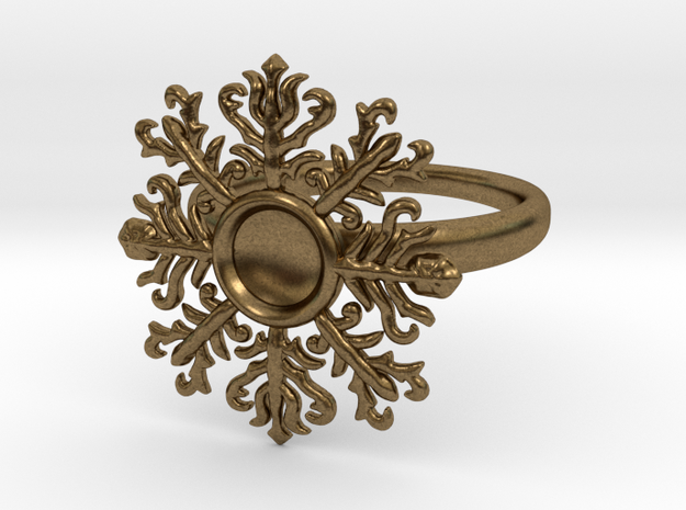 snowflake ring in Natural Bronze
