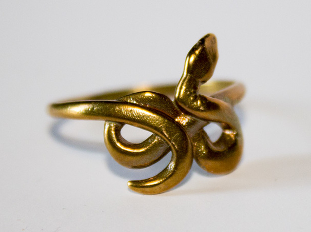Slytherin Snake ring 3d printed