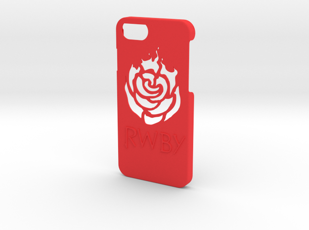 Iphone 7 RWBY Case in Red Processed Versatile Plastic