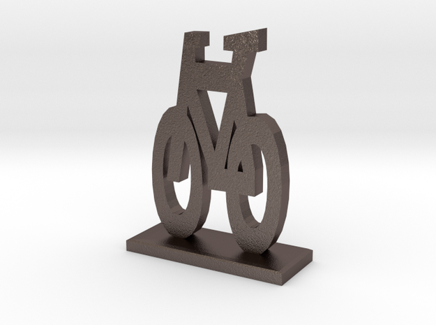 Bike Symbol Stand in Stainless Steel