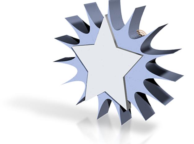 Star Sun Coaster 3d printed