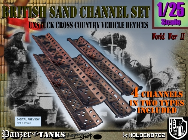 1-25 British Sand Channel Set 3d printed