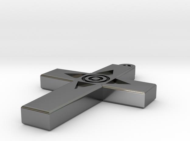 Simple Cross Pendant in Premium Silver
