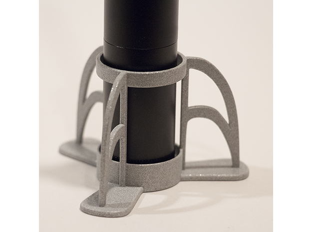 The Rocket e-cig Stand 25mm Type 1 in White Strong & Flexible