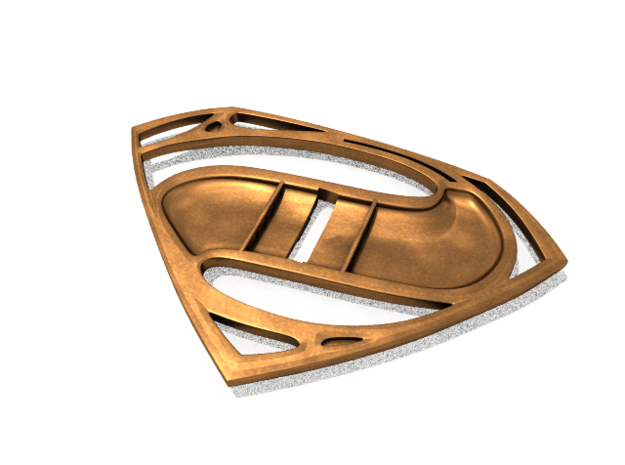 Man of Steel BluRay replacement base 3d printed underside