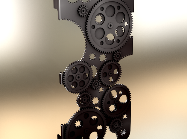 "Iphone 4 ""Cogwheels"" in Black Strong & Flexible"
