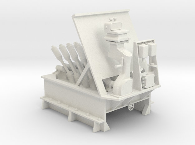 1/24 USN Hedgehog Thrower MK10 in White Natural Versatile Plastic: 1:24
